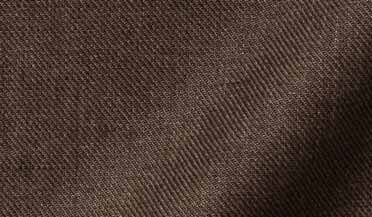 Albini Washed Mocha Linen Twill Fabric Sample
