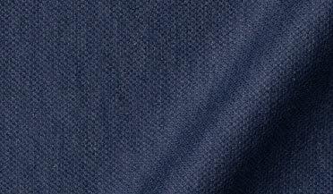 Fabric swatch of Canclini Melange Slate Blue Knit Pique Fabric