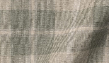 Custom shirt made with Portuguese Washed Beige and Fatigue Multi Plaid Linen Fabric