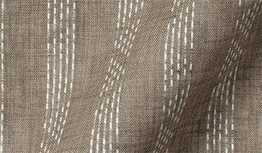 Fabric swatch of Albini Beige and White Cotton Linen Dobby Fabric