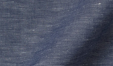 Fabric swatch of Portuguese Faded Navy Cotton Linen Oxford Fabric