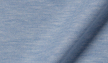 Fabric swatch of Canclini Melange Blue Knit Pique Fabric