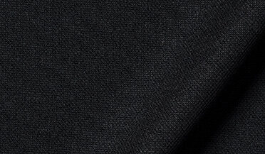 Fabric swatch of Japanese Black Performance Knit Pique Fabric