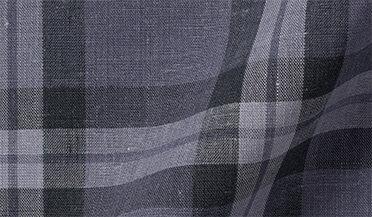 Fabric swatch of Bondi Slate Plaid Linen Blend Fabric