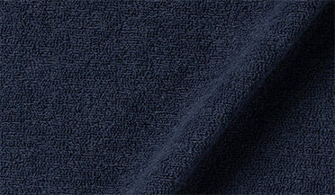 Fabric swatch of Faded Navy Terry Cloth Knit Fabric