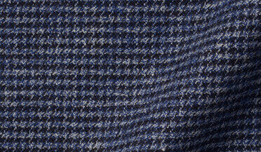 Wythe Slate Melange Houndstooth Flannel Fabric Sample