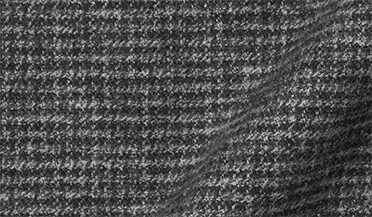 Fabric swatch of Wythe Grey Melange Houndstooth Flannel Fabric