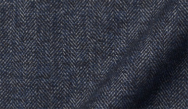 Wythe Slate Melange Herringbone Flannel Fabric Sample
