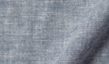 Fabric swatch of Portuguese Brushed Slate Chambray Fabric