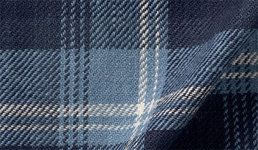 Fabric swatch of Japanese Washed Blue and White Country Plaid Fabric