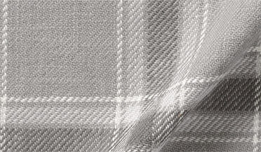 Fabric swatch of Japanese Washed Grey Country Plaid Fabric