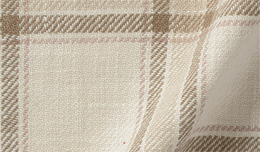 Fabric swatch of Japanese Washed Beige Country Plaid Fabric