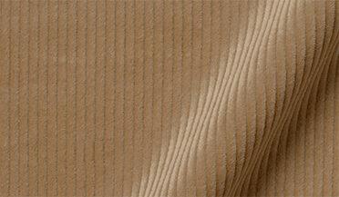 Fabric swatch of Duca Visconti Camel Stretch Corduroy Fabric
