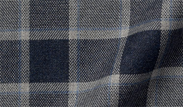 Fabric swatch of Canclini Slate Tonal Gingham Beacon Flannel Fabric