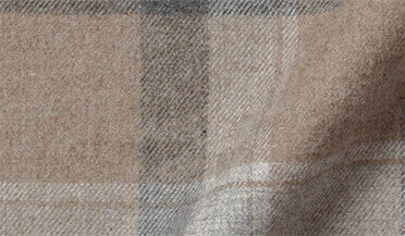 Fabric swatch of Canclini Camel Plaid Beacon Flannel Fabric