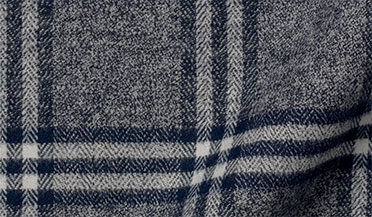 Sierra Slate and White Plaid Flannel Fabric Sample