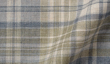 Fabric swatch of Satoyama Slate and Sage Plaid Flannel Fabric