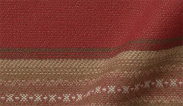 Fabric swatch of Red and Brown Southwest Blanket Stripe Fabric