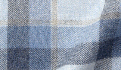 Fabric swatch of Canclini Frost Shadow Plaid Beacon Flannel Fabric