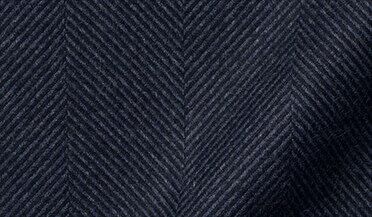 Fabric swatch of Canclini Navy Large Herringbone Beacon Flannel Fabric