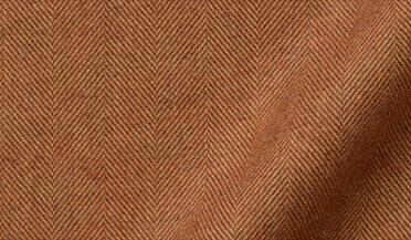 Fabric swatch of Canclini Hickory Herringbone Beacon Flannel Fabric