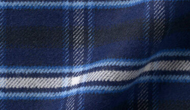 Fabric swatch of Whitney Navy and Royal Blue Plaid Flannel Fabric
