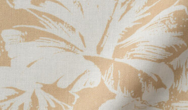 Fabric swatch of Japanese Beige Aloha Print Fabric