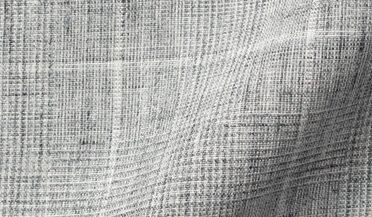 Fabric swatch of Tessuti di Sondrio Light Grey Prince of Wales Check Linen Fabric