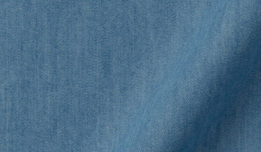 Fabric swatch of Cotton and Tencel Light Wash Denim Fabric