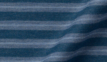 Blue Ombre Horizontal Stripe Flannel Fabric Sample