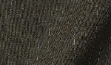 Fabric swatch of Leomaster Fatigue Pinstripe Linen Fabric