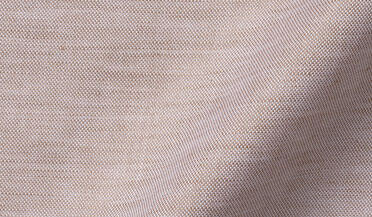 Fabric swatch of Canclini Faded Copper Cotton Linen Oxford Fabric