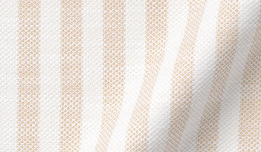 Fabric swatch of Amalfi Beige Tonal Wide Stripe Pique Fabric
