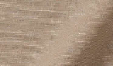 Fabric swatch of Portuguese Beige Cotton Linen Oxford Fabric