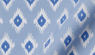 Fabric swatch of Canclini Sky Blue Vintage Block Print Fabric