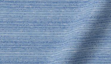 Blue Cotton and Linen Melange Knit Fabric Sample