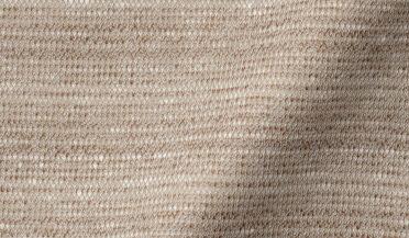 Beige Cotton and Linen Melange Knit Fabric Sample