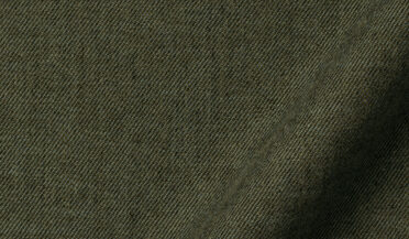Fabric swatch of Ludlow Green Melange Brushed Twill Fabric