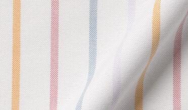 Fabric swatch of American Pima Fun Stripe Heavy Oxford Fabric